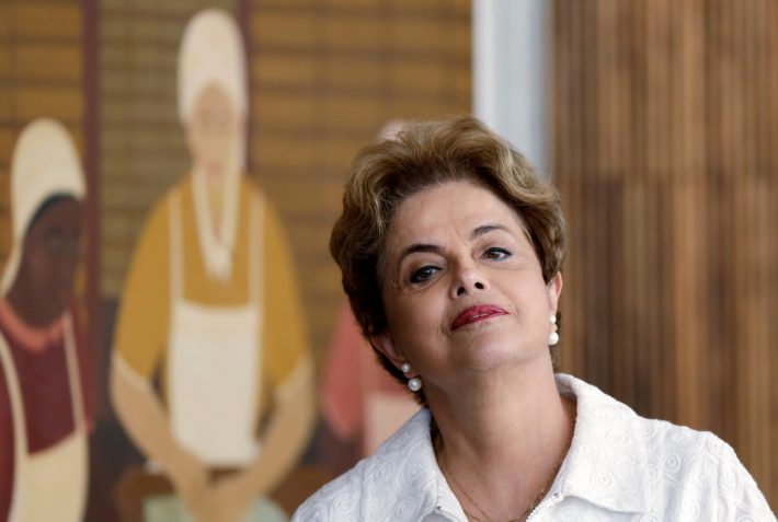 Suspended Brazilian President Dilma Rousseff attends a news conference with foreign media in Brasilia, Brazil, May 13, 2016. REUTERS/Ueslei Marcelino
