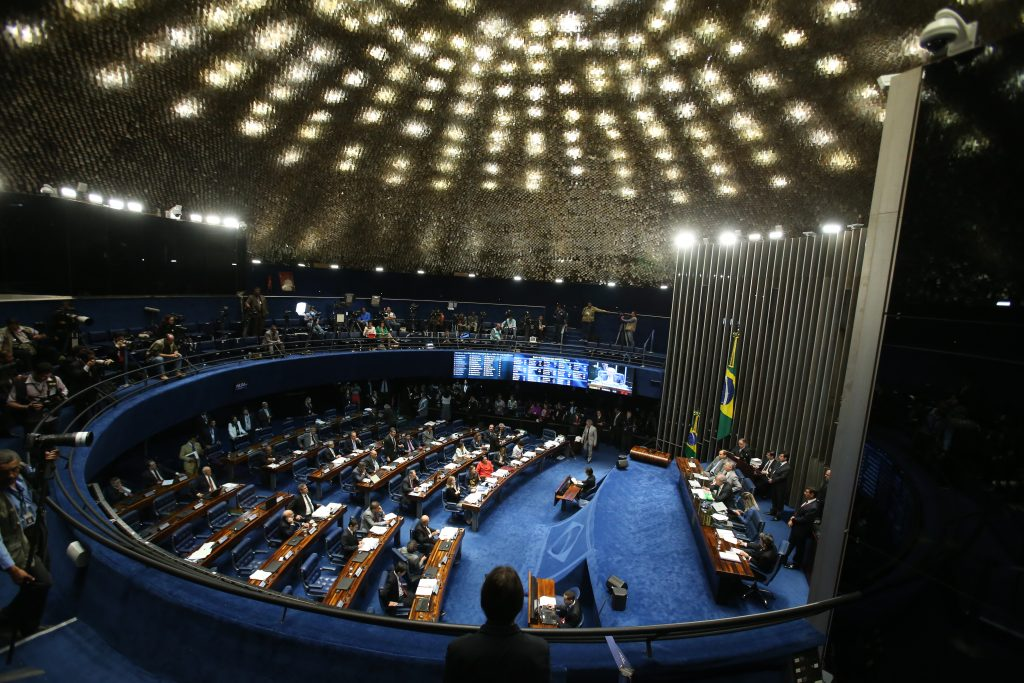 A sessão do impeachment no Senado. Foto: André Dusek/Estadão