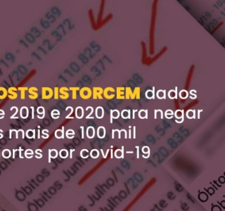 Posts distorcem dados de 2019 e 2020 para negar as mais de 100 mil mortes por covid-19