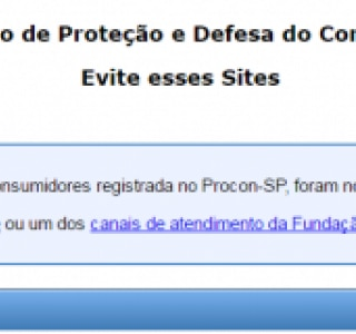 Procon-SP não recomenda 525 sites de vendas
