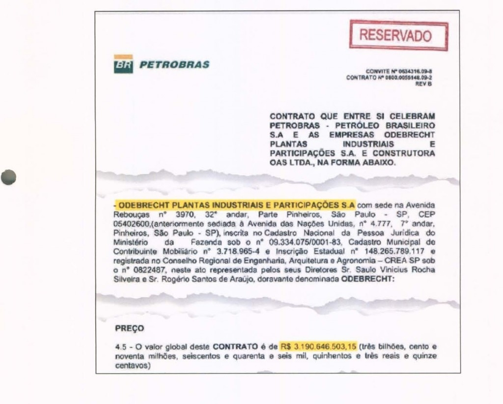 Contrato Odebrecht