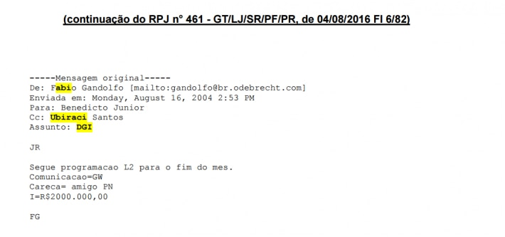 GW email 2